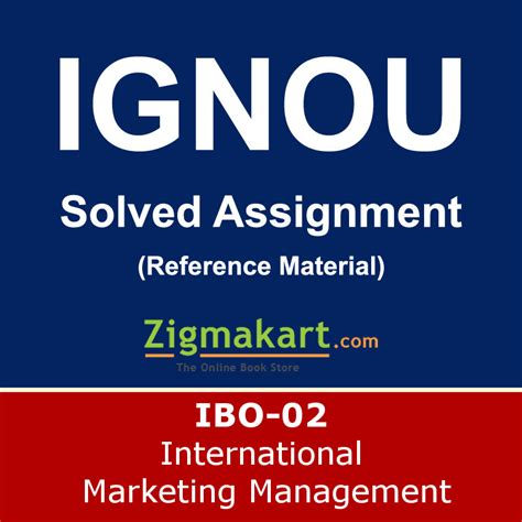 International Marketing Assignment Mba by Ignou Ibo 02 Solved Assignment 2017 18 Ignou Ibo 2
