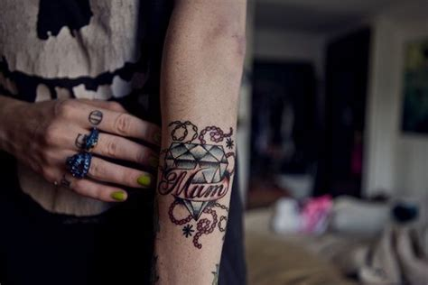mcgregor wrist tattoo my mom and diamond tattoo designs and meaning on arm image