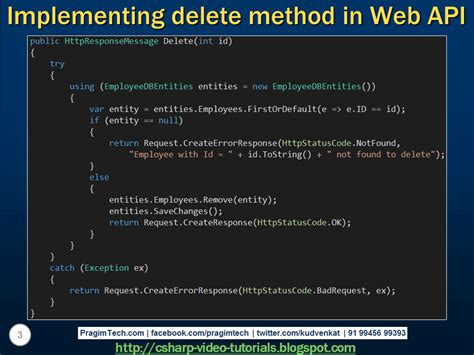 tutorial on web api sql server net and c video tutorial implementing