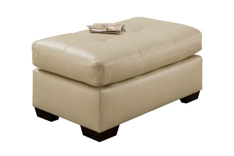 Cagney Leather Ottoman At Gardner White Cagney Leather Sofa