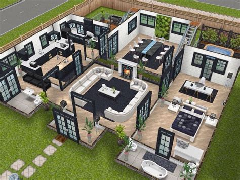 10 Best Images About The Sims Freeplay House Designs On Sims House Plans