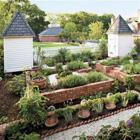 Layout Of Kitchen Garden Plant A Kitchen Garden Southern Living