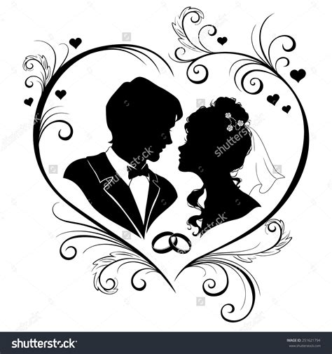 Wedding Siluet by Groom Silhouette Wedding Clipart 66