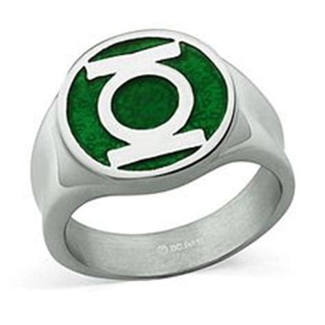 Origami Green Lantern Ring - jewelry on legend of pyramid collection