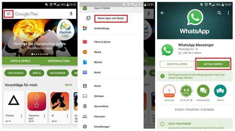 Play Store Whatsapp Update Whatsapp Update Android So Den Messenger Aktualisieren