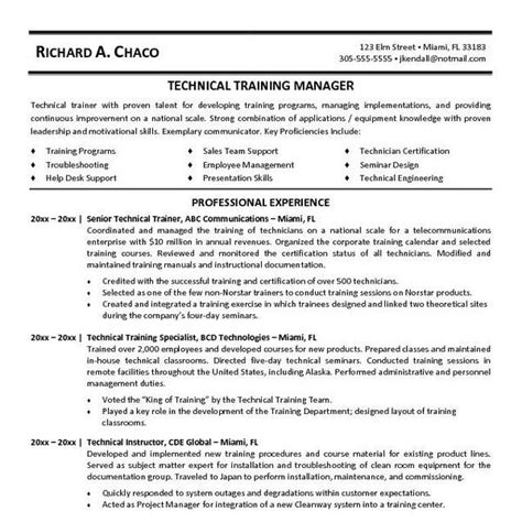 Technical Resume Format by Writing A Technical Resume Best Resume Gallery