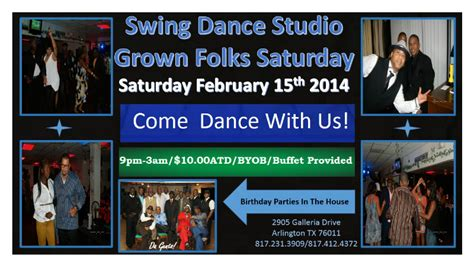 swing dance lessons dallas studio 103 saturday grown folks party arlington tx