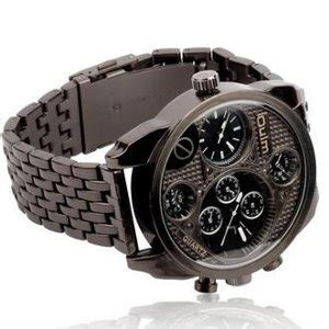 Oulm Analog Quartz Stainless Steel Band Fashion 9316 Black jual oulm mechanical analog quartz stainless steel