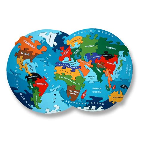 Puzzle Solar World Map alphabet jigsaw wooden map puzzles in world britain