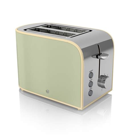Pale Green Toaster 2 Slice Retro Toaster Green Buy At Qd Stores