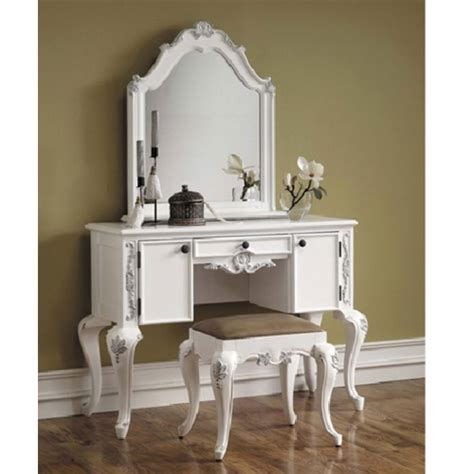 white classic antique vanity bedroom vanity vanity set