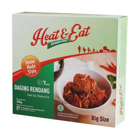 jual heat eat daging rendang makanan instan harga kualitas terjamin blibli