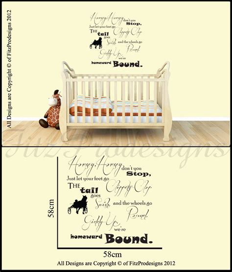 Nursery Rhyme Wall Decals Nursery Rhyme Wall Stickers Quotes Wall Decals Wall Graphics Horsey Ebay