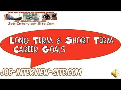 term career objective career goals and objectives exles