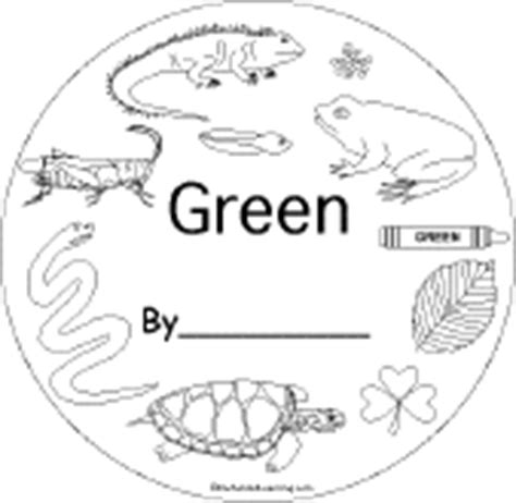 Green Enchantedlearning Com Green Coloring Pages