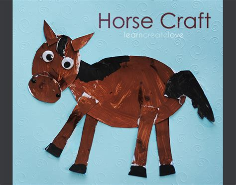 crafts to do with pony craft with printable