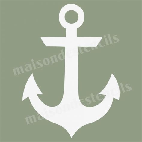template anchor 9 best images of anchor stencil printable free with