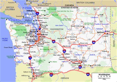 washington state usa map washington map