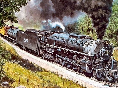 painting trains journeys steam painting by howard fogg