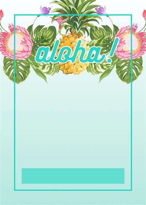 Luau Invitations Templates Free by Hawaiian Birthday Invitations Template Resume Builder