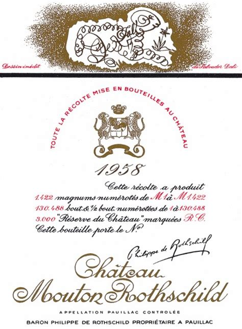 ch 226 teau mouton rothschild the labels room mouton rothschild 1958 salvador dal 237