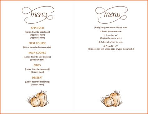 menu card template microsoft office 7 menu templates for microsoft word bookletemplate org