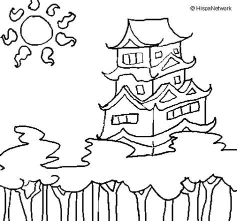 Japon Imagenes Para Colorear | dibujo de casa japonesa para colorear dibujos net
