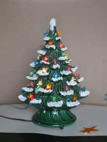 vintage ceramic christmas tree electric plastic bird bulbs
