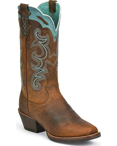 justin square toe boots justin silver blue embroidered boots square toe