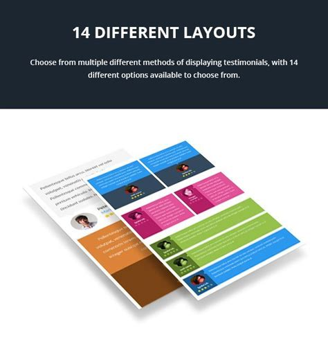wordpress theme different page layout wp testimonials premium wordpress testimonials plugin