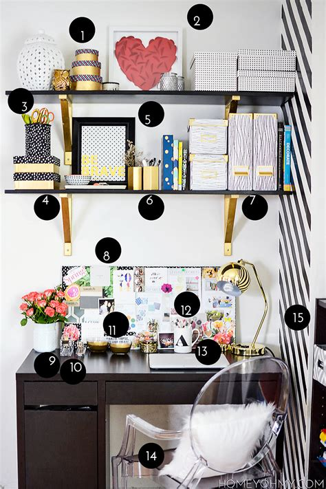 diy desk decor work space reveal homey oh my