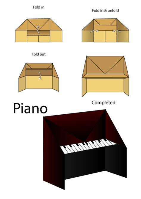 how to make origami piano easy origami piano kidspressmagazine