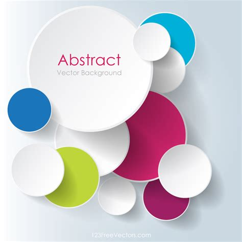 background design vector format colorful overlapping circles background design