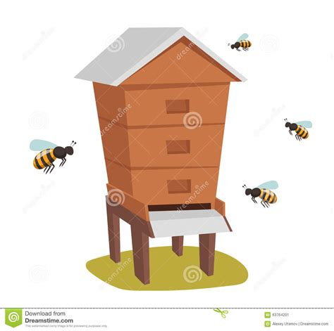 honey bee house plans apiary honey bee house apiary vector illustrations stock vector image 63764201