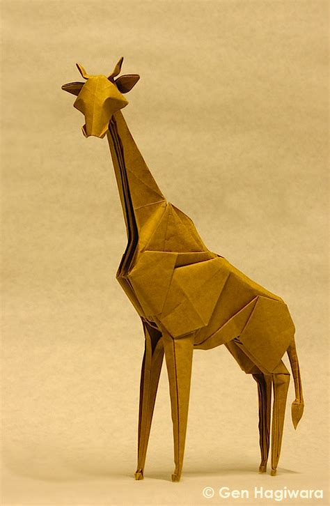How To Make Paper Giraffe - origami giraffe by gen h d5b1v9h jpg 661 215 1013 origami