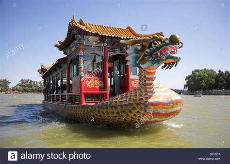 dragon boat palace a chinese dragon boat on kunming lake in the summer palace