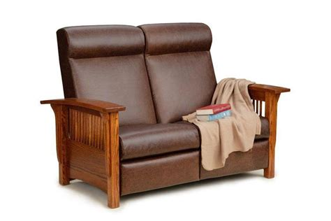 Mission Loveseat Recliner by Paradise Mission Reclining Loveseat From Dutchcrafters Amish Furniture