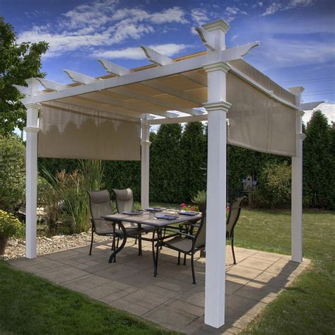 patio cover kits lowes shop columns garden vinyl pergolas outdoor pergolas