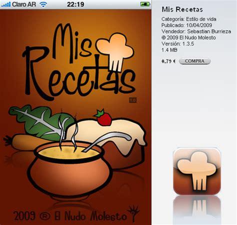 de recetas de cocina mis recetas recetas de cocina en iphone