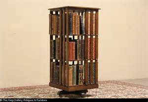 spinning oak 1900 antique revolving bookcase ebay
