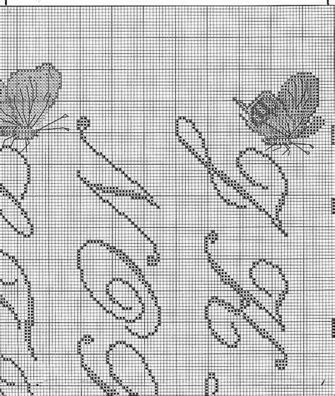 lettere corsive punto croce sler punto croce con lettere corsive e farfalle 3