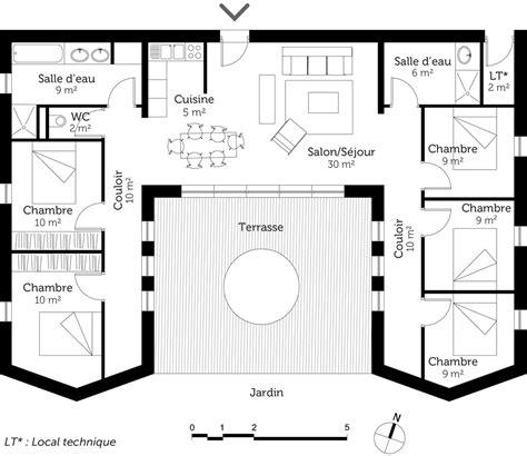Plan Maison 5 Chambres Avec Etage by Plan Maison 110m2 Etage 8 Plan Maison Plain Pied Avec 5