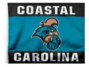 coastal carolina colors car flag sports and branded merchandise