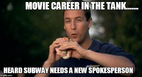 Happy Gilmore Meme - subway spokesman imgflip