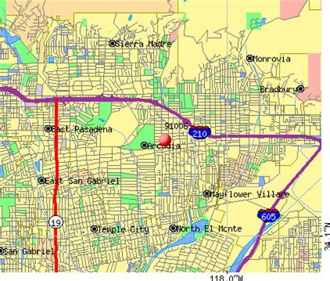 arcadia california map 91006 zip code arcadia california profile homes