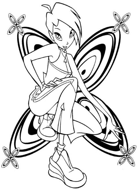 winx club pixie tune free coloring pages