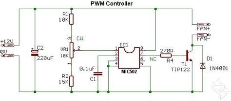 skema pemasangan kapasitor kipas angin rangkaian pengontrol kipas angin pwm