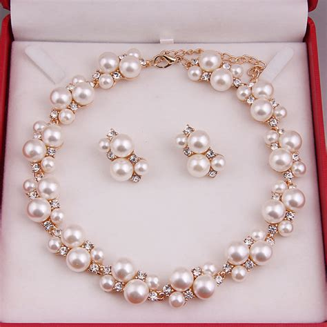 where can i buy for jewelry bridal gold jewelry sets faux pearl diamante wedding