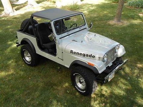 1985 Jeep Renegade Sell Used 1985 Jeep Cj7 Renegade Fresh Two Year