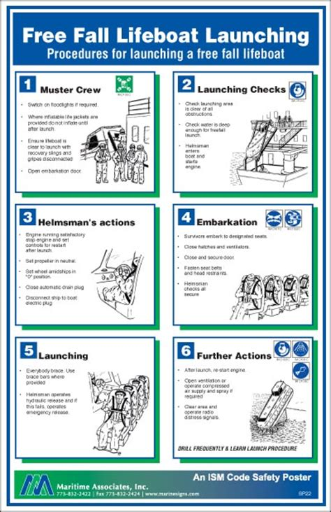 boat safety procedures free fall lifeboat launch marine engineer
